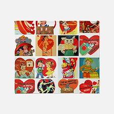 vintage valentines day cards feb Throw Blanket