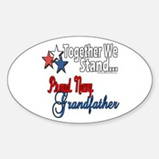 Proud Navy Grandpa Oval Decal