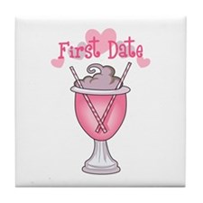 FIRST DATE Tile Coaster