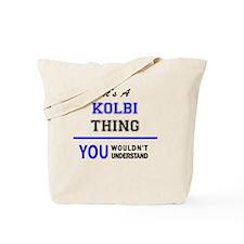 Funny Kolby Tote Bag