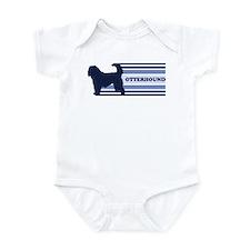 Otterhound (retro-blue) Infant Bodysuit