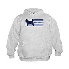 Otterhound (retro-blue) Hoodie