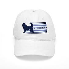 Otterhound (retro-blue) Baseball Cap