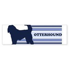 Otterhound (retro-blue) Bumper Bumper Sticker