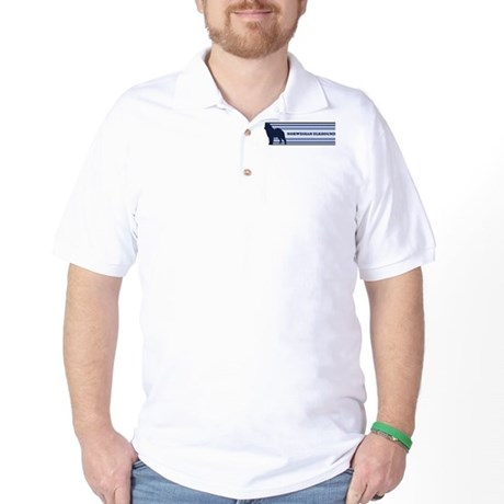Norwegian Elkhound (retro-blu Golf Shirt