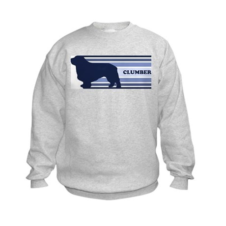 Clumber (retro-blue) Kids Sweatshirt