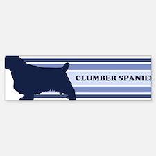 Clumber Spaniel (retro-blue) Bumper Bumper Bumper Sticker