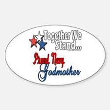 Navy Godmother Oval Decal