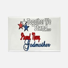 Navy Godmother Rectangle Magnet