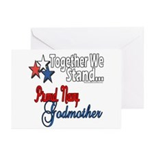 Navy Godmother Greeting Cards (Pk of 10)