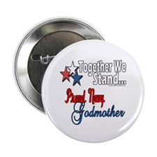 """Navy Godmother 2.25"""" Button (100 pack)"""