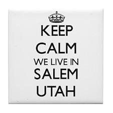 Keep calm we live in Salem Utah Tile Coaster