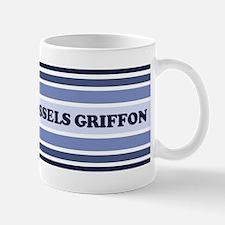 Brussels Griffon (retro-blue) Mug