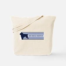 Brussels Griffon (retro-blue) Tote Bag