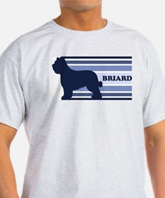 Briard (retro-blue) T-Shirt