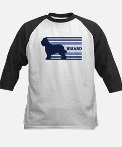 Briard (retro-blue) Kids Baseball Jersey