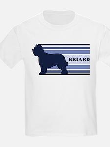 Briard (retro-blue) T-Shirt