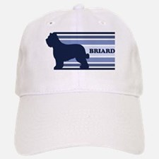 Briard (retro-blue) Baseball Baseball Cap