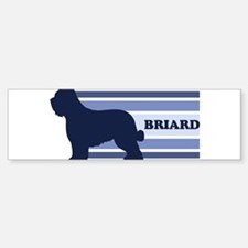 Briard (retro-blue) Bumper Bumper Bumper Sticker