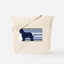 Briard (retro-blue) Tote Bag