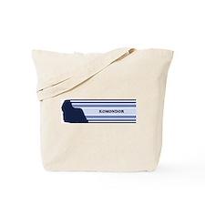 Komondor (retro-blue) Tote Bag