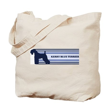Kerry Blue Terrier (retro-blu Tote Bag