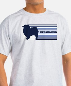 Keeshound (retro-blue) T-Shirt