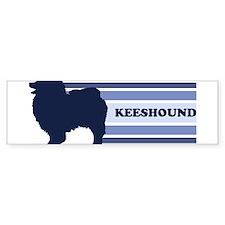 Keeshound (retro-blue) Bumper Bumper Bumper Sticker