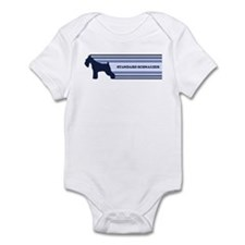 Standard Schnauzer (retro-blu Infant Bodysuit