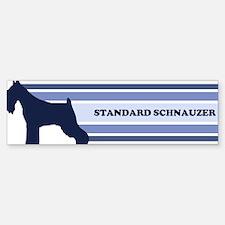 Standard Schnauzer (retro-blu Bumper Bumper Bumper Sticker