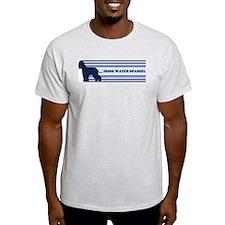 Irish Water Spaniel (retro-bl T-Shirt
