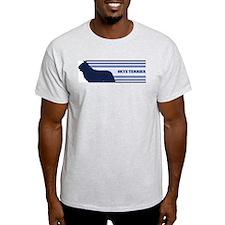 Skye Terrier (retro-blue) T-Shirt