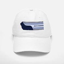 Skye Terrier (retro-blue) Baseball Baseball Cap