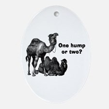 Funny Camels Ornament (Oval)