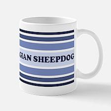 Belgian Sheepdog (retro-blue) Mug
