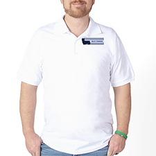 Silky Terrier (retro-blue) T-Shirt