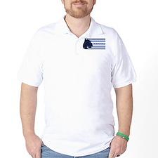 Schnoodle (retro-blue) T-Shirt