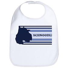 Schnoodle (retro-blue) Bib