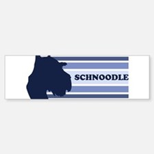 Schnoodle (retro-blue) Bumper Bumper Bumper Sticker