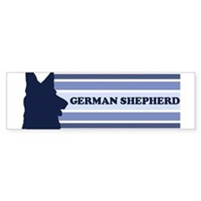 German Shepherd (retro-blue) Bumper Bumper Sticker