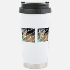 CUSTOMIZE Add 2 Photos Stainless Steel Travel Mug