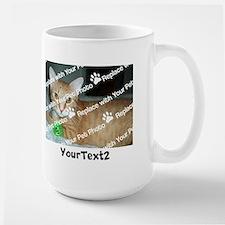 CUSTOMIZE Add 2 Photos 2 Texts Ceramic Mugs