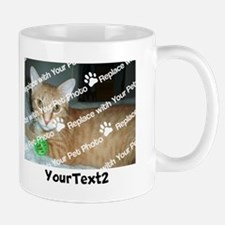 CUSTOMIZE Add 2 Photos 2 Texts Small Mugs