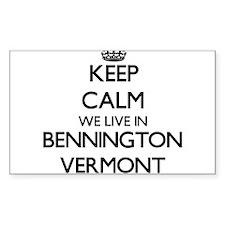 Keep calm we live in Bennington Vermont Decal