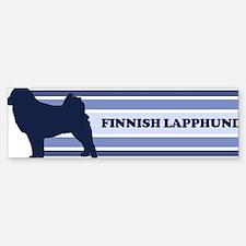 Finnish Lapphund (retro-blue) Bumper Bumper Bumper Sticker