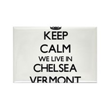 Keep calm we live in Chelsea Vermont Magnets
