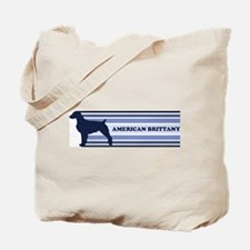 American Brittany (retro-blue Tote Bag