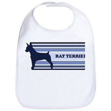 Rat Terrier (retro-blue) Bib