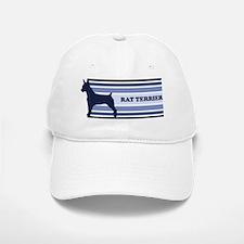 Rat Terrier (retro-blue) Baseball Baseball Cap