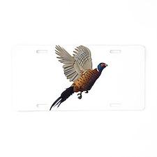 Pheasant Aluminum License Plate